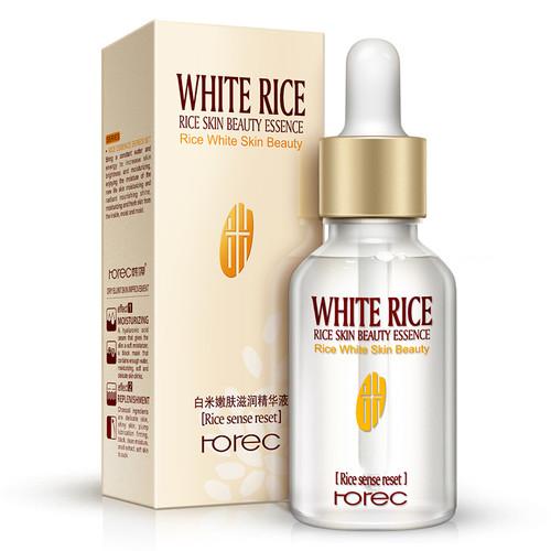 ROREC White Rice Serum Natural & Organic Reduces Wrinkles & Lightens Dark Spots Dark Circle, Fine Line & Sun Damage Corrector