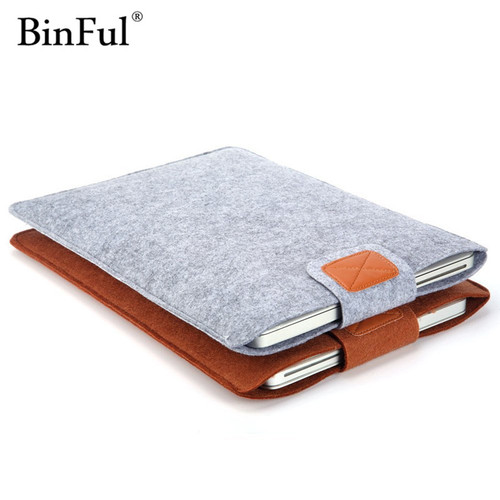 BinFul 11,12,13,14,15 inch Wool Felt Inner Notebook Laptop Sleeve Bag Case Carrying Handle Bag For Macbook Air/Pro/Retina
