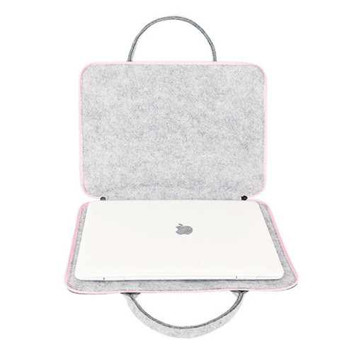 Fashion Wool Felt Laptop Bag For Mac 11 13 15 17 Mouse Bags Briefcase for Macbook Air Pro Retina For Lenovo Notebook Sleeve Case