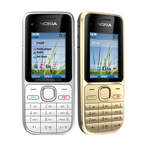 C2-01 Original Unlocked Nokia C2-01 1020mAh 3.15MP 3G Support Englihs/Russian/Hebrew/Arabic Keyboard / Cellphone refurbished