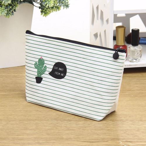 Women Cosmetic Bag Travel New 2018 Fashion  Printing Cactus Ladies Make Up Case Toiletry Wash Organizer bag