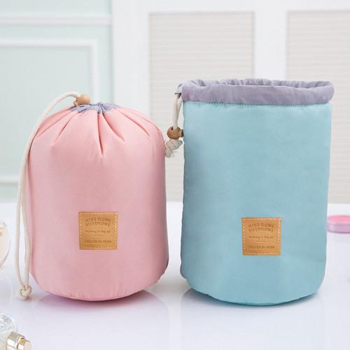 High Quality Waterproof Barrel Travel Cosmetic Bag Cosmetic Bag Nylon Wash Bag Dressing Box Storage Bag Large Capacity