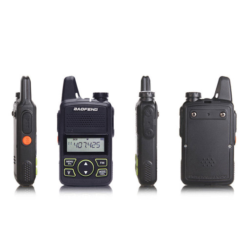 Walkie Talkie BF-T1 MINI Radio UHF 400-470MHz FM Transceiver With PTT Earpiece Hotel Civilian Radio Comunicacion Transceiver