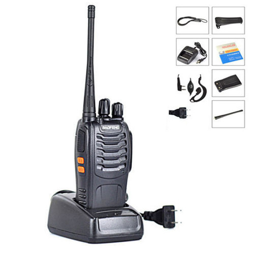 Baofeng BF-888S Walkie Talkie 5W Handheld Pofung bf 888s UHF 400-470MHz 16CH Two-way Portable Radio with Baofeng Earphone