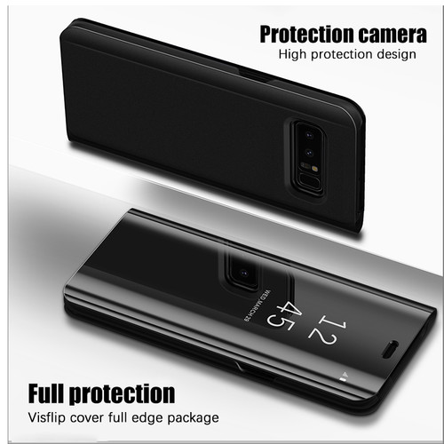 Clear View Mirror Smart Case For Samsung Galaxy S9 S8 Plus S6 S7 edge cover Case Samsung J3 J5 J7 2016 2017 Flip Stand Cases