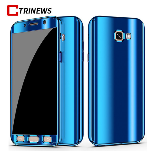 CTRINEWS Mirror Case For Samsung Galaxy A5 A7 2017 360 Full Body Protective Cover Cases For Samsung A7 2017 Phone Case Film