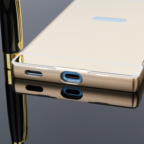 Aluminium Bumper Case For Sony Xperia XA 1 Plus XZ Premium XZ Luxury Metal Mirror Case For Sony Xperia XA1 XA2 Ultra XZ 1 Mini