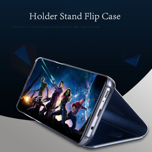 Mirror Flip Case For Samsung Galaxy S9 Note 8 S6 S7 Edge S8 A8 2018 Plus J5 J7 A5 A7 2017 Funda Cover For iphone 6 6s 7 8 Plus X