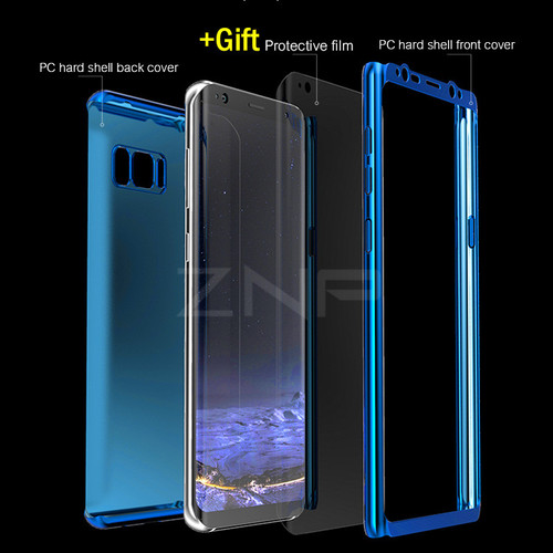 ZNP 360 Full Protection Case For Samsung Galaxy S7 Edge Note 8 Luxury Bling Mirror Phone Cover For Samsung S8 Plus S8 S7 Case