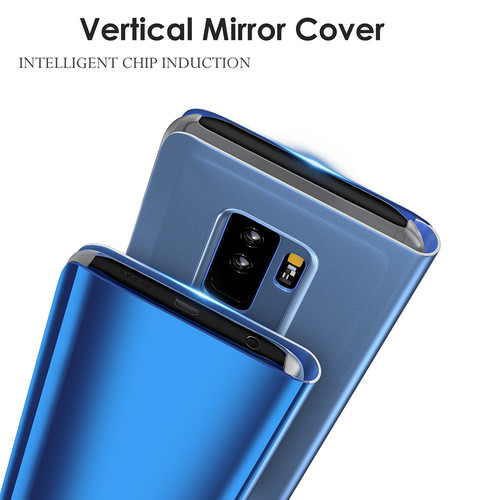 Mirror Flip Case For Samsung Galaxy S8 S9 A8 A6 2018 Plus S6 S7 Edge Note 8 Stand Phone Cover For Samsung A3 A5 A7 J3 J5 J7 2017