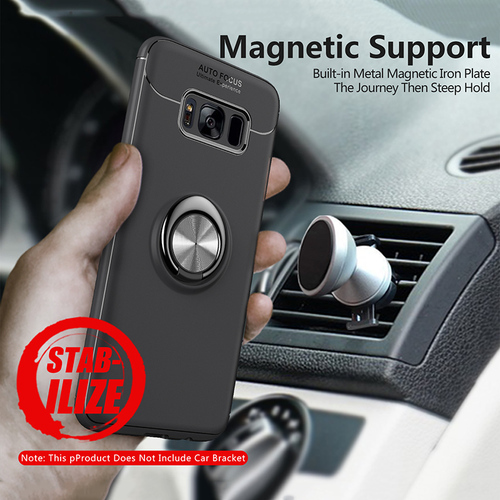 Toraise For Samsung Galaxy S8 Plus Case S9 Car Holder Stand Magnetic Bracket Finger Ring TPU Case For Samsung S9 Plus Note 8 S8