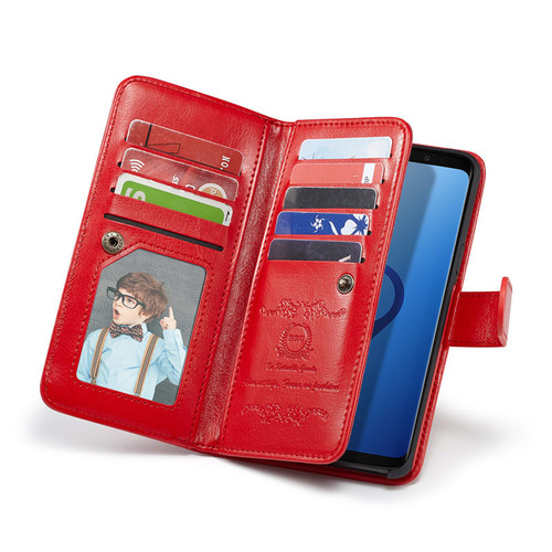 Luxury Wallet Case For Samsung Galaxy S9+ S9 Plus Case 2In1 Magnetic Removable Phone Bags For Samsung S8/S8+ S 9 Card Slot Frame