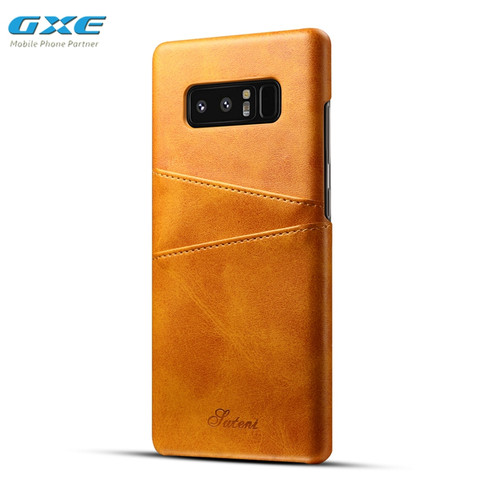 Luxury Genuine Real Leather Case For Samsung Galaxy Note 8 Retro Vintage Back Protective Cover Case For Samsung S9 Plus S8 Note8
