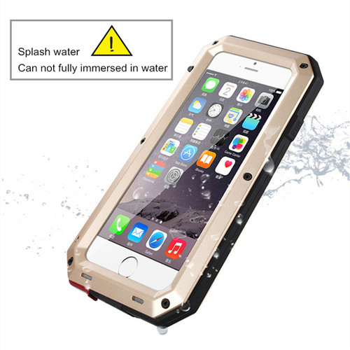 Luxury Doom armor Dirt Shock Weatherproof Shockproof Metal Aluminum alloy cell phone case For iphone 5s SE 6 6s 7 8 X plus cover