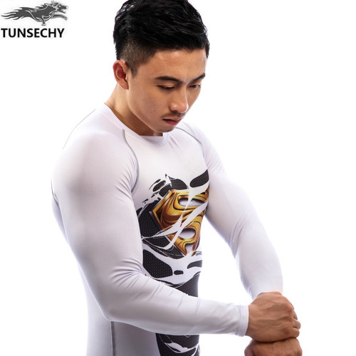 New 2017 Fitness Compression Shirt Men Long Sleeve 3D Printed T-shirt Superhero Captain America Brand Clothing Marvel T shirt