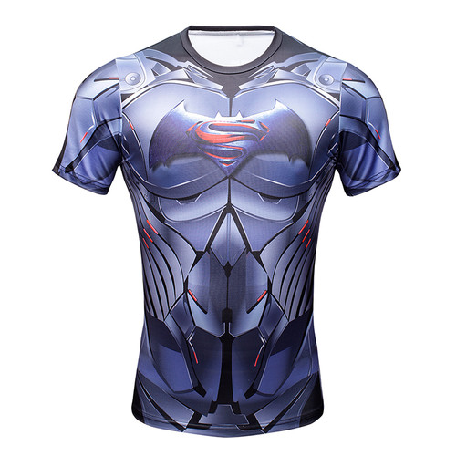 2016 Compression Shirt Superman Captain America Iron man 3D Print T-Shirt Superhero Marvel Comics Mens Style T Shirt