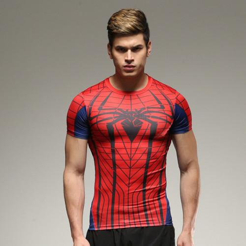 marvel batman Captain America t-shirt hot superman t shirt men joges Punisher Superhero tights quick-dry T-shirt Summer clothing