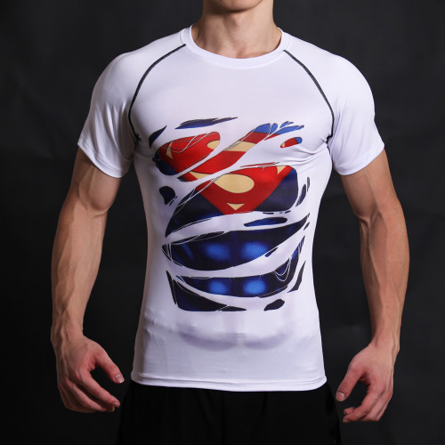 Superman 3D Printed T-shirts Men T Shirt Captain America Civil War Tee Marvel Avengers iron man Fitness Male Crossfit Tops
