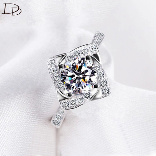 fashion rings for women 925 sterling silver ring wedding engagement Love aaa zircon jewelry