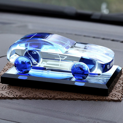 Luxury Car Dashboard Perfume Ornaments Auto Interior Accessories Decoration Replica Crystal For Ferrari And Other All Cars