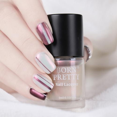BORN PRETTY 9ml Shell Glimmer Nail Polish Shiny Transparent Glitter Nail Lacquer Varnish Color Polish