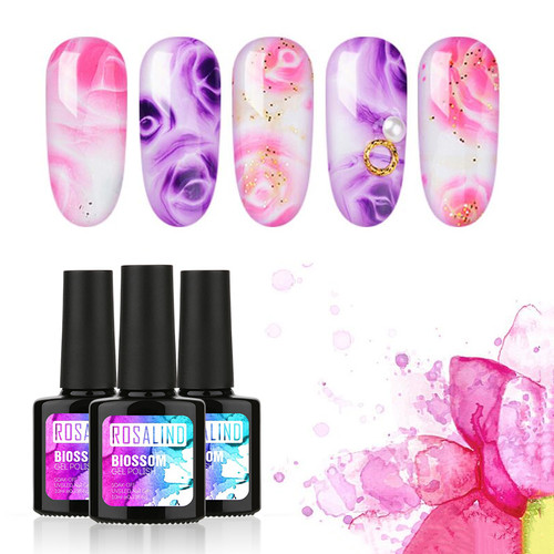ROSALIND Gel 1S 10ml Blossom Gel Polish Color Professional Soak Off UV LED Glitter For Manicure DIY Long-Lasting Nail Polish