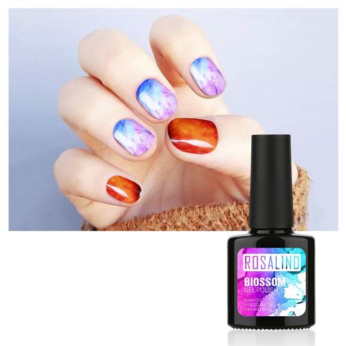 ROSALIND Gel 1S 10ml Blossom Gel Polish Color Professional Soak Off UV LED Glitter For Manicure DIY Long-Lasting Nail Polish