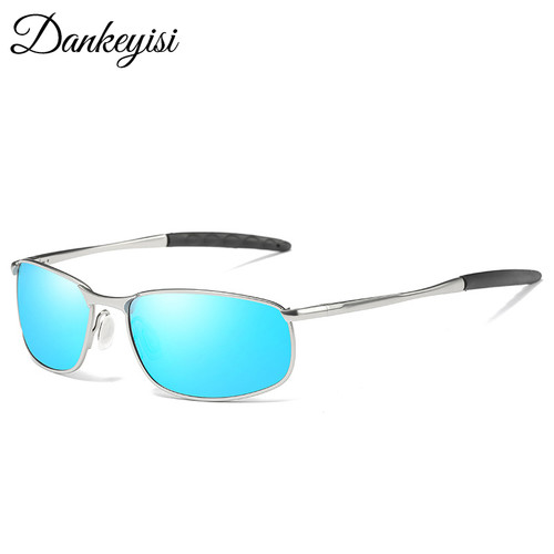 DANKEYISI Male Sunglasses Polarized Square Metal Driver Men Sunglassses Retro Sun Glasses For Men Women 2017 Free Box Bag