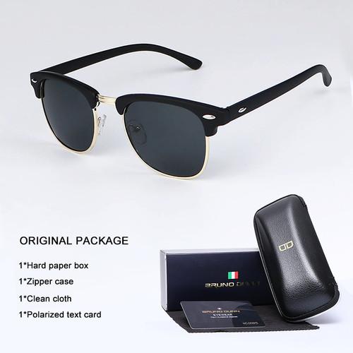 Bruno Dunn Vintage Sunglasses Men Women polarized 2018 Brand Design Sun Glasses for male Female Gafas lentes Oculos Lunette Ray