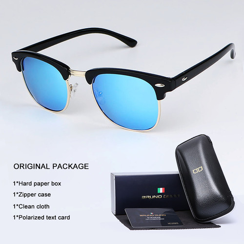 Bruno Dunn Vintage Sunglasses Men Women polarized 2018 Brand Design Sun Glasses for male Female Gafas lentes Oculos Lunette Ray
