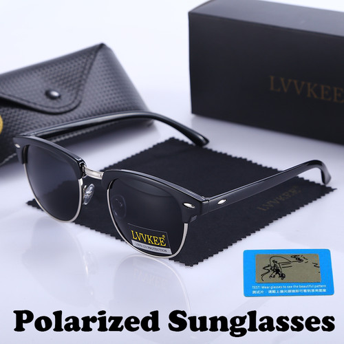 Classic Brand Polarized Night Vision Club Sunglasses Men Women Semi Rimless Master Sunglass outdoors driving 100% UV400 Eyewear