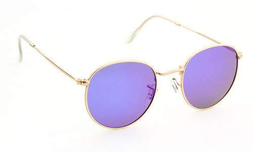 2017 hot Brand Designer Female Round Lens Mirror Polarized Sunglasses Retro Women Men Metal Frame Circle Sunglass UV400 Oculos