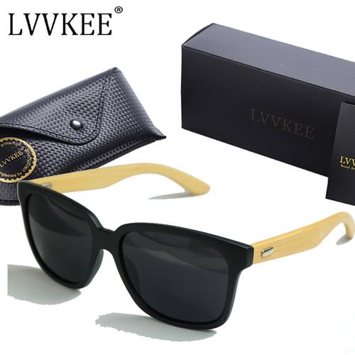LVVKEE Brand Designer 2017 New Bamboo Legs sunglasses Women/Mens wooden sun glasses Outdoors sports UV400 eyewear mormaii oculos