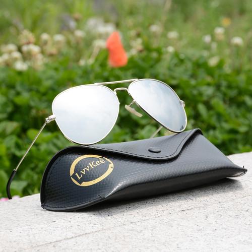LVVKEE Top quality G15 Polarized Aviator Sunglasses Men/Women Classic Brand Design driving Sun Glasses Oculos de sol masculino