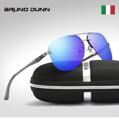 Aluminum Aviator Unisex Retro Sunglasses Polarized Rimless Driving Mirror Sun Glasses Oculos Aviador Lunette Ray for Men/Women