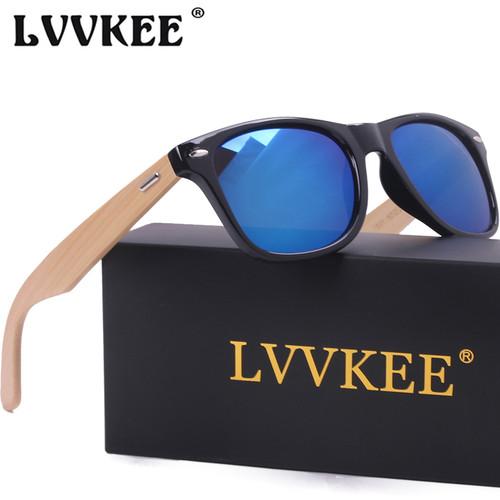 LVVKEE Brand 2017 New Arrivals Top quality wood mens sunglasses bamboo women design sun glasses Outdoors Sports sunglass 2140