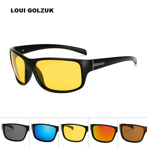 Top Quality Men Polarized Sports Sunglasses 2018 New Night Vision Anti-UV400 Fishing Sun Glasses Male Outdoor Safe Eyewear