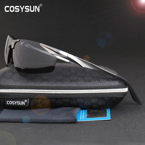 2018 New Aluminum Magnesium Polarized Sunglasses Men's Driving Sunglasses male sun glasses Men Sports Sunglasses with Case 0206
