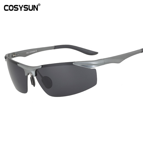 2018 New Aluminum Magnesium Polarized Sunglasses Men's Driving Sunglasses male sun glasses Men Sports Sunglasses with Case 0206