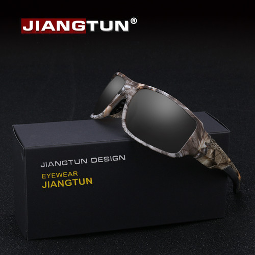 JIANGTUN 2018 Top Fashion Camo Black Polarized Sunglasses Men Cool Style Quality Sun Glasses Anti-UV High Quality