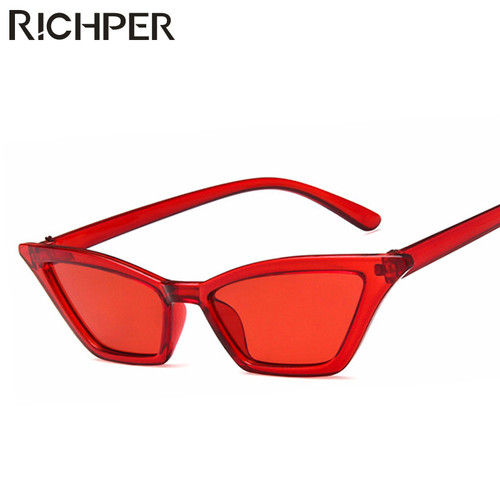 Fashion Cat Eye Sunglasses Women Luxury Brand Designer Vintage Sun Glasses Small Red Black ladies Sunglass Eyewear oculos de sol