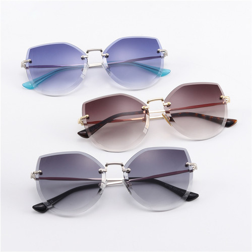 2018 Metal women sun glasses cat eye uv400 colored designer clear candy fashion vintage retro sunglasses #S31158