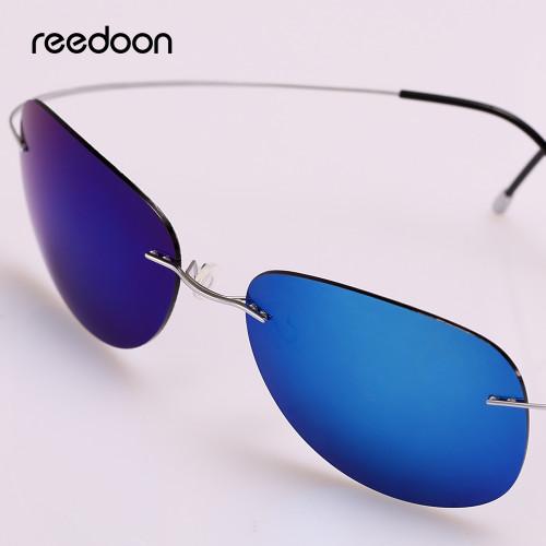 Reedoon Sunglasses Polarized Mirrored UV400 Lens 90% Titanium Frame Lightweight Sun Glasses 2018 For Men Women Driving rd0077