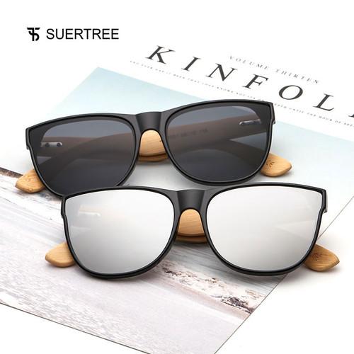 2018 New Bamboo Sunglasses Women Men Vintage Sun Glasses Retro Fashion Wooden Shades Rimmed Gafas de sol UV Protection JH8004