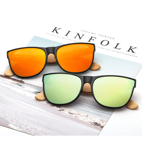 2018 New Bamboo Sunglasses Women Men Vintage Sun Glasses Retro Fashion Wooden Shades Rimmed Gafas de sol UV Protection JH8004