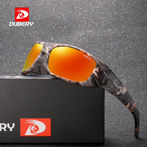 DUBERY 2018 Luxury Brand Men Camouflage Frame Polarized Sunglasses Sports Night Vision Aviator Sunglasses Eyewear Male Goggles