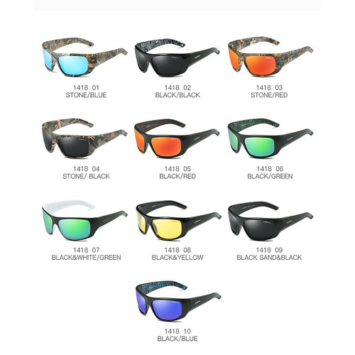 DUBERY 2018 Luxury Brand Men Camouflage Frame Polarized Sunglasses Sports Night Vision Aviator Sunglasses Eyewear Male Goggles