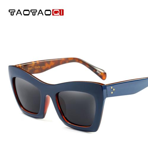 TAOTAOQI Square Cat eyewear Women's Sunglasses Fashion Sunglasses Women Brand Designer UV400 Large Frame Glasses Women 2018