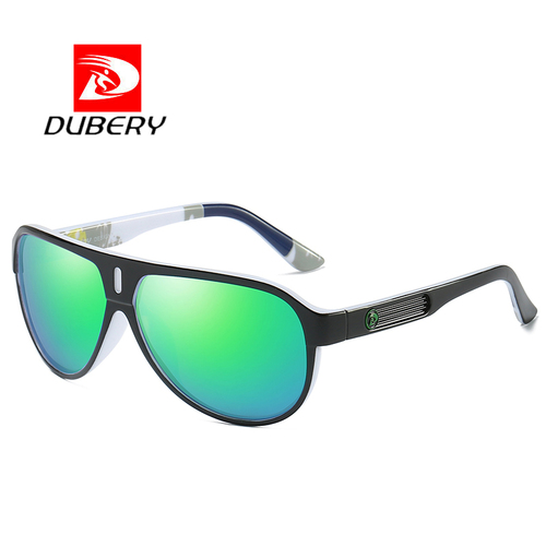 DUBERY 2018 Sport Sunglasses Polarized For Men Sun Glasses Goggle  Driving Personality Color Mirror Luxury Brand Designer UV400