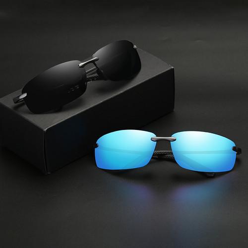 2018 New Rimless Sunglasses Polarized Men Brand Designer Driving Sun Glasses Goggle For Men oculos de sol male shades